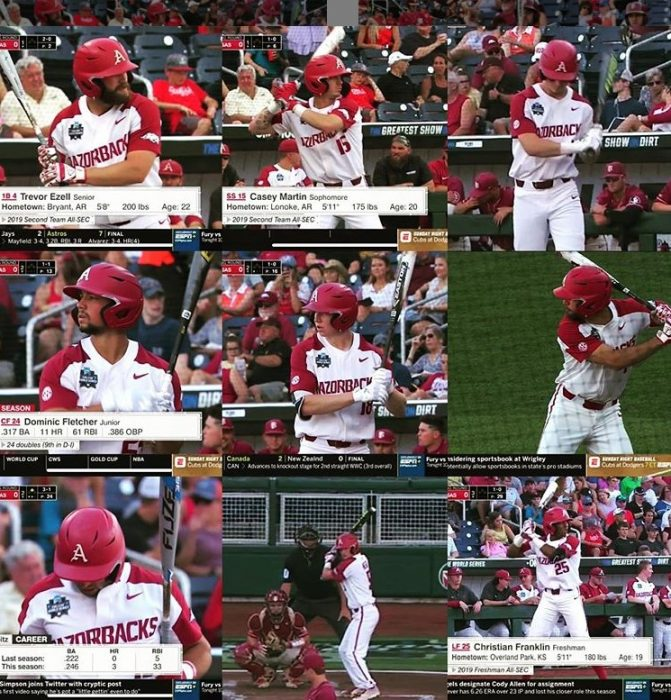 2019 College World Series Bats