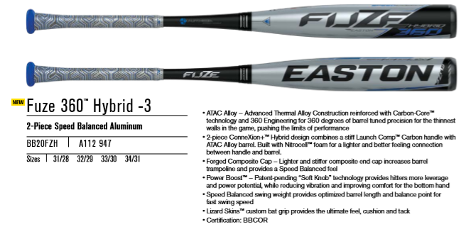 2020 Easton Fuze 360 Hybrid Review